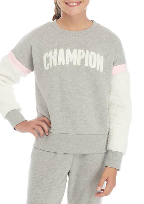 Champion® Girls 7-16 Heritage Sherpa Crew Neck Sweatshirt