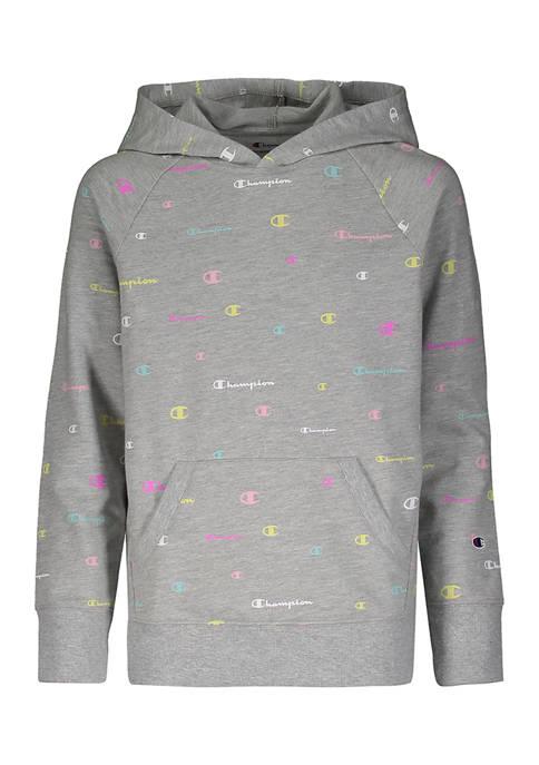 Champion® Girls 7-16 Multicolor Logo Printed Hoodie