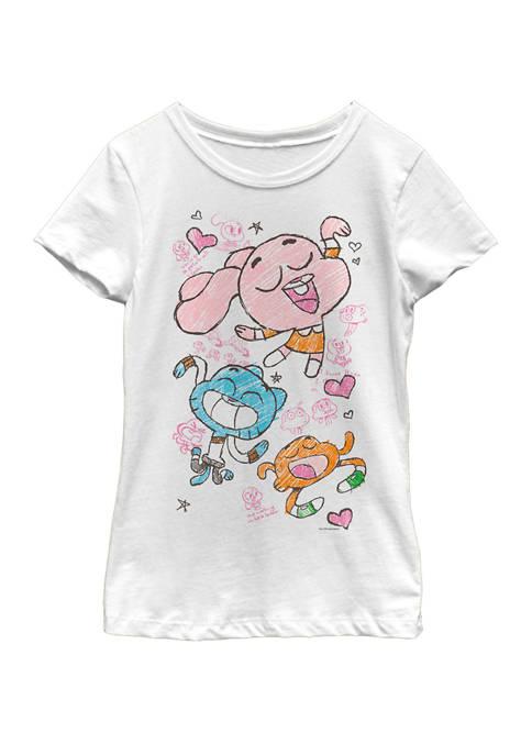 Cartoon Network Girls 7-16 Gumball Darwin Anais Doodle