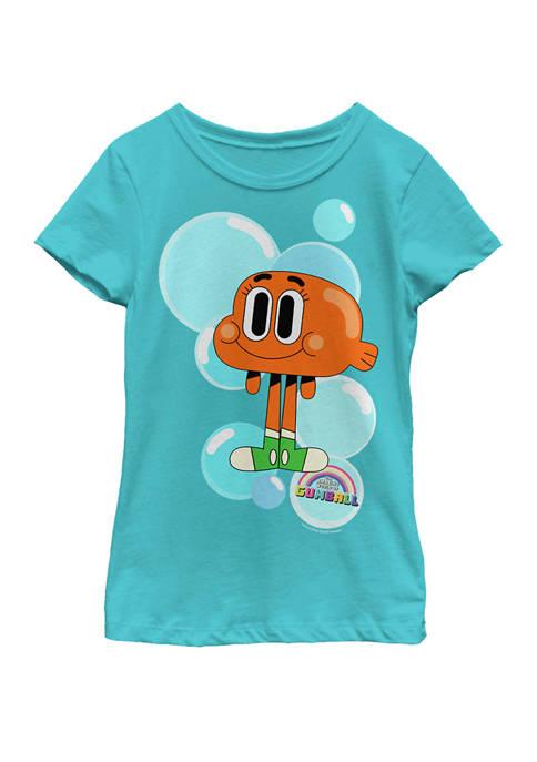Cartoon Network Girls 7-16 Gumball Darwin Bubbles Short