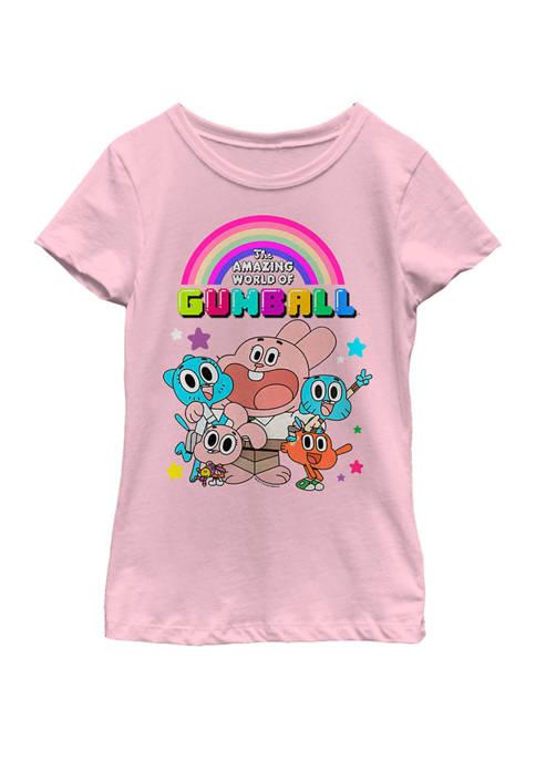 Cartoon Network Gumball Bright Family Portrait Short Sleeve
