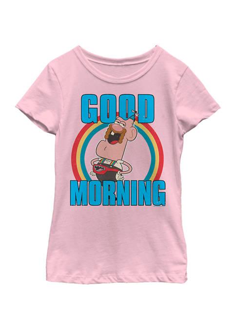 Girls 7-16 Uncle Grandpa Good Morning Rainbow Circle Short Sleeve Graphic T-Shirt