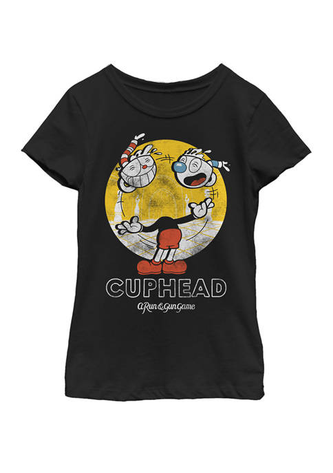Cuphead With Mugman Head Juggling Short Sleeve Graphic