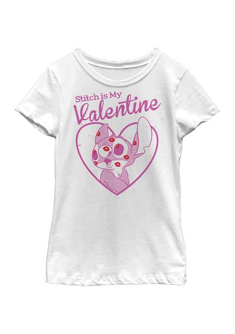 Disney® Girls 4-6x Stitch Valentine Graphic T-Shirt