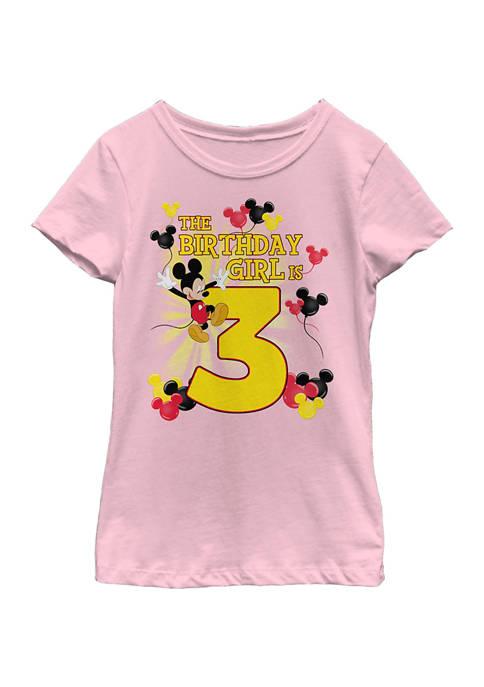 Disney® Mickey Girls 4-6x Birthday Girl Is 3