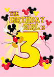 Girls 4-6x Birthday Girl Is 3 Graphic T-Shirt