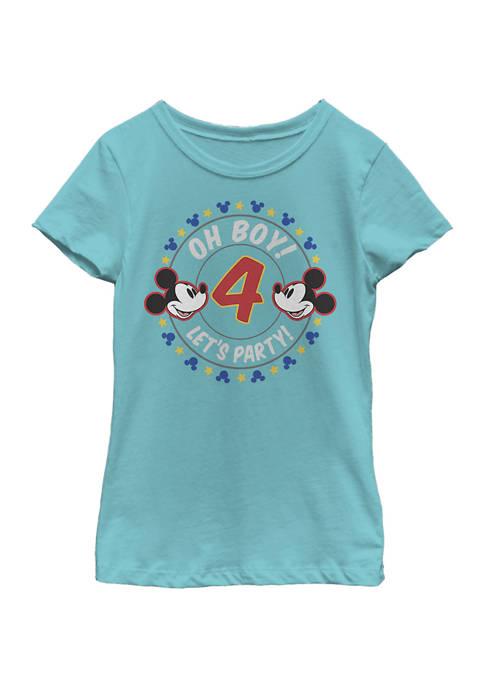 Disney® Mickey Girls 4-6x Oh Boy 4 Graphic
