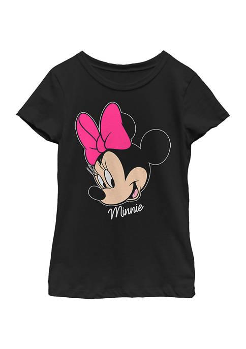 Disney® Minnie Girls 4-6x Minnie Big Face Graphic