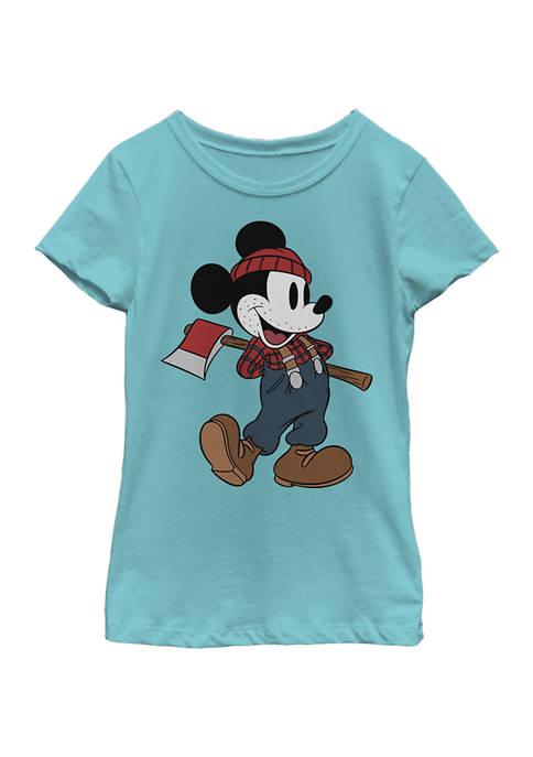 Girls 4-6x Lumberjack Mickey Graphic T-Shirt