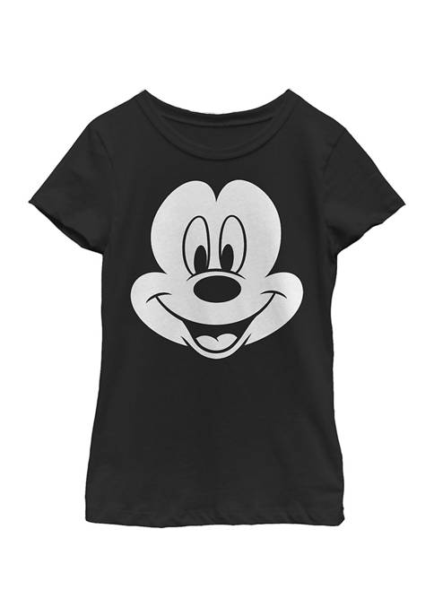 Girls 4-6x Big Face Mickey Graphic T-Shirt