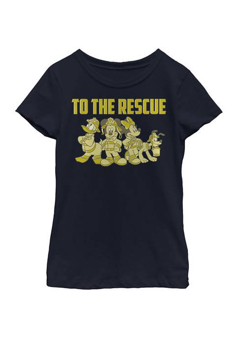 Disney® Girls 4-6x Thanks Firefighters Graphic T-Shirt