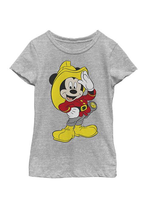 Girls 4-6x Mickey Firefighter Graphic T-Shirt