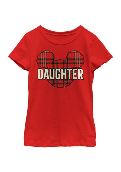 Disney® Girls 4-6x Daughter Holiday Patch Graphic T-Shirt