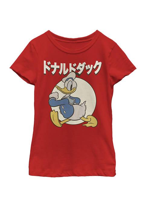 Disney® Girls 4-6x Kanji Duck Graphic T-Shirt