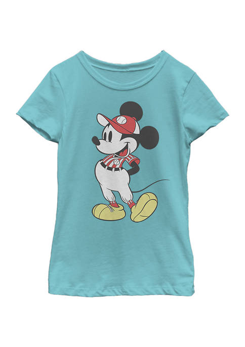 Girls 4-6x Baseball Season Mickey Graphic T-Shirt