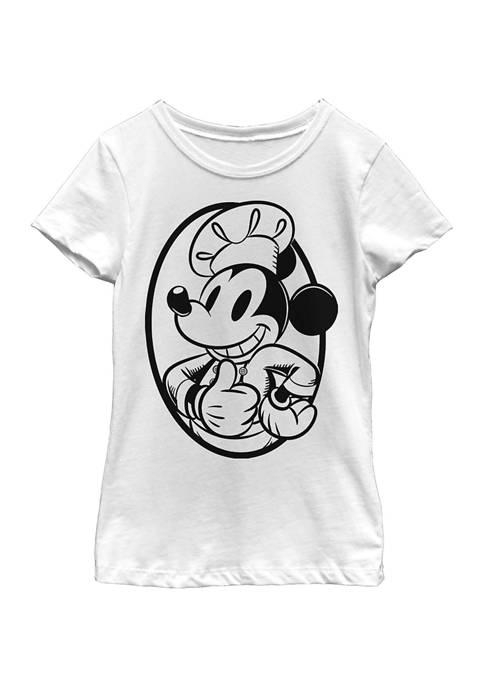 Girls 4-6x Chef Mickey Circle Graphic T-Shirt