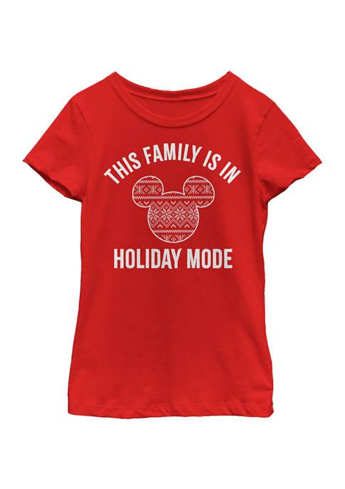 Disney® Girls 4-6x Family Holiday Mode Graphic T-Shirt