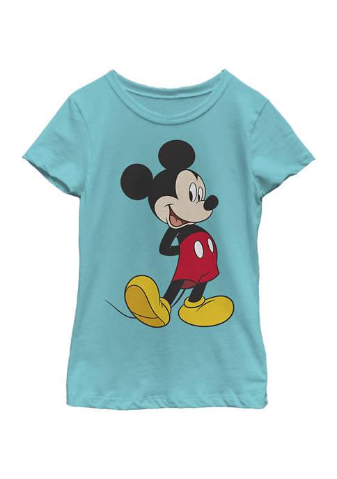 Disney® Mickey Girls 4-6x Traditional Mickey Graphic T-Shirt