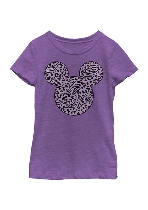Disney® Girls 4-6x Mickey Zebra Cheetah Fill Graphic