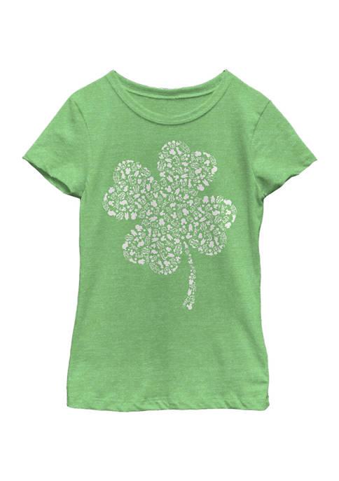 Girls 4-6x Shamrock Fill Graphic T-Shirt