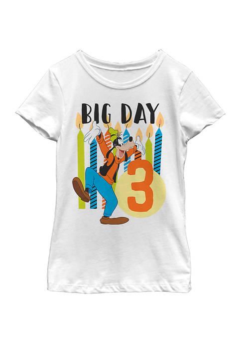 Girls 4-6x Goofy Candles Three Graphic T-Shirt