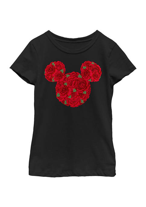 Disney® Girls 4-6x Mickey Mouse Roses Graphic T-Shirt