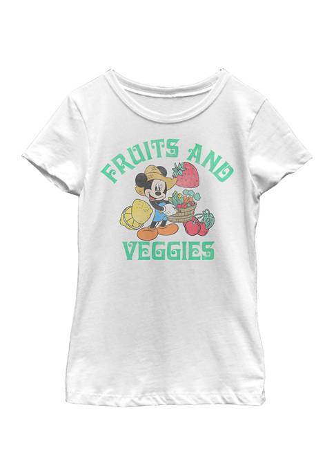 Disney® Mickey Girls 4-6x Fruits and Veggies Graphic