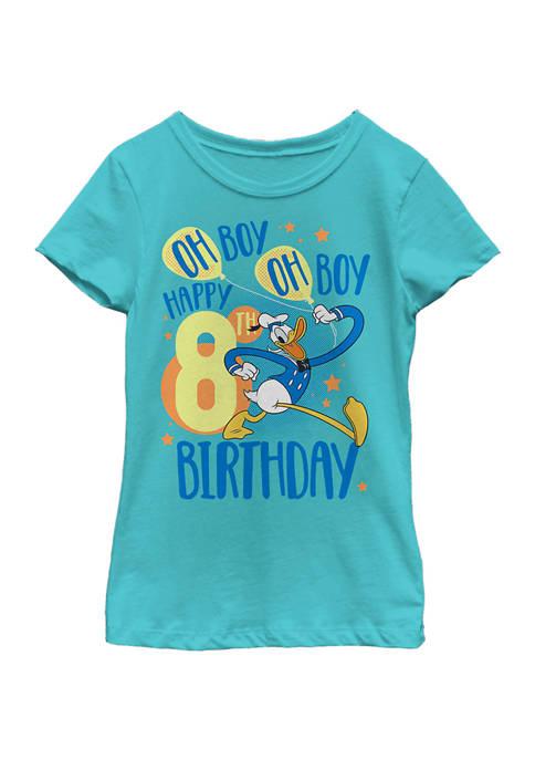 Disney® Girls 4-6x Donalds 8th Bday Graphic T-Shirt