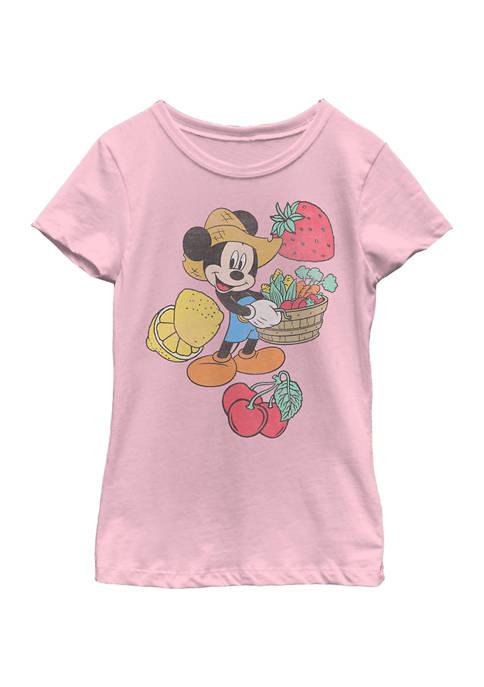 Girls 4-6x Farmer Mickey Graphic T-Shirt
