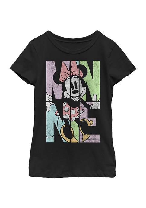 Disney® Girls 4-6x Minnie Name Fill Graphic T-Shirt