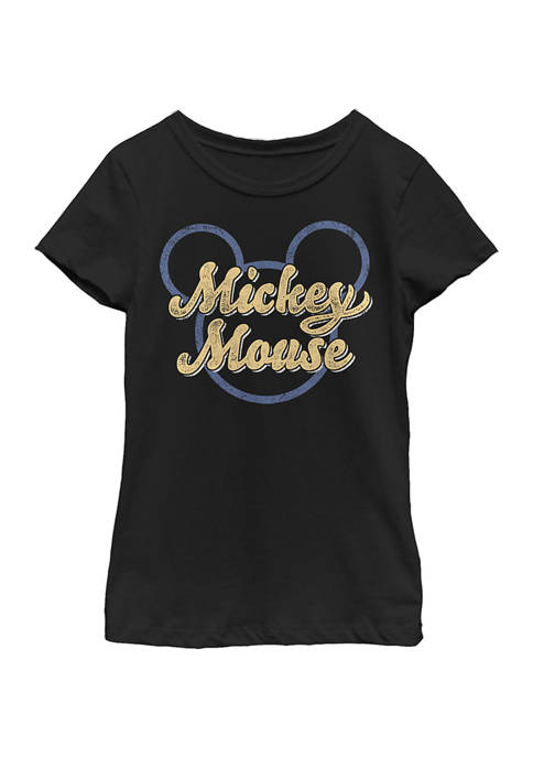 Girls 4-6x Mickey Script Graphic T-Shirt