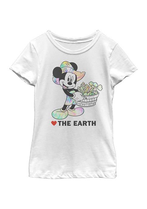 Disney® Girls 4-6x Heart The Earth Graphic T-Shirt
