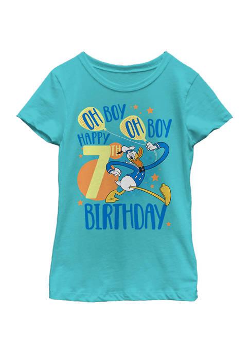 Disney® Girls 4-6x Donalds 7th Bday Graphic T-Shirt