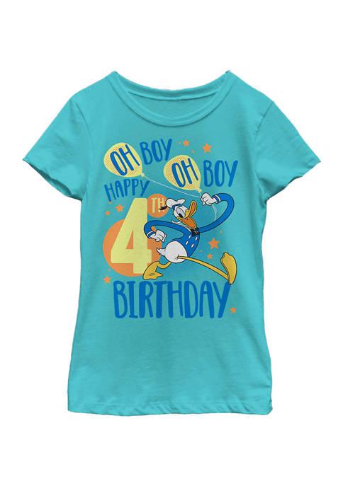 Girls 4-6x Donalds 4th Bday Graphic T-Shirt