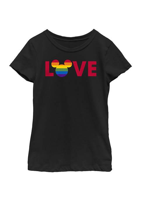 Disney® Girls 4-6x Ears Logo Pride Graphic T-Shirt