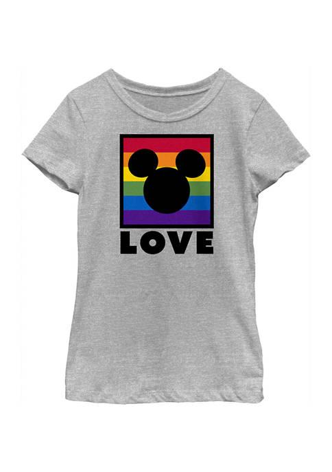 Mickey Classic Girls 4-6x Pride Box Graphic T-Shirt