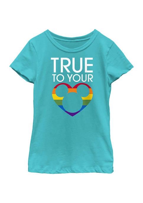 Mickey Classic Girls 4-6x True To Pride Graphic