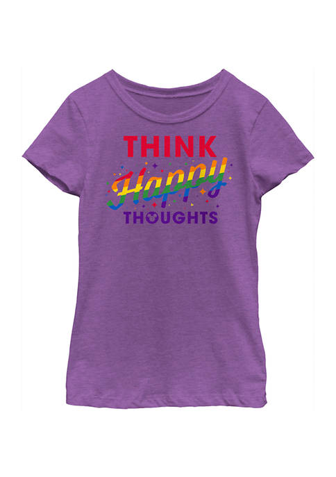 Girls 4-6x Happy Thoughts Graphic T-Shirt