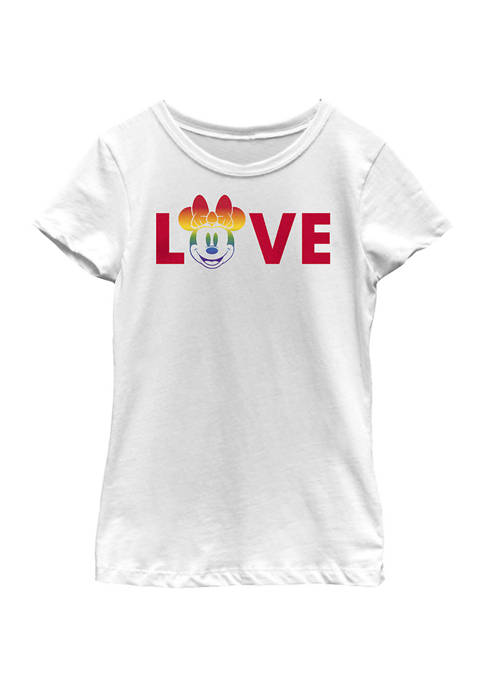 Disney Minnie Mouse Girls 4-6x Loves Pride Graphic