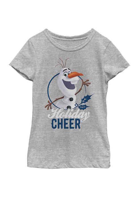 Disney® Frozen Girls 4-6x Frozen Holiday Cheer Top