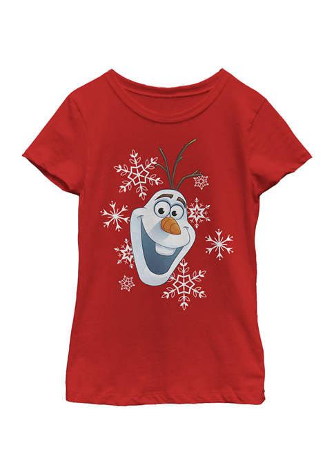 Disney® Frozen Girls 4-6x Olaf Hat T-Shirt