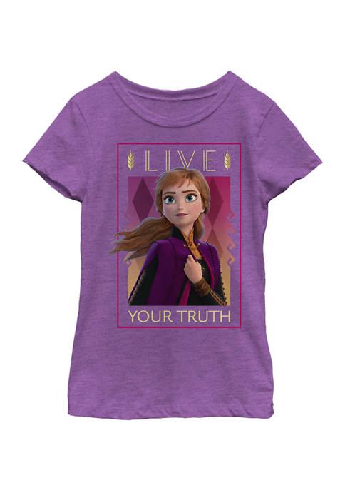 Disney® Frozen Girls 7-16 Anna Lives Truth Graphic