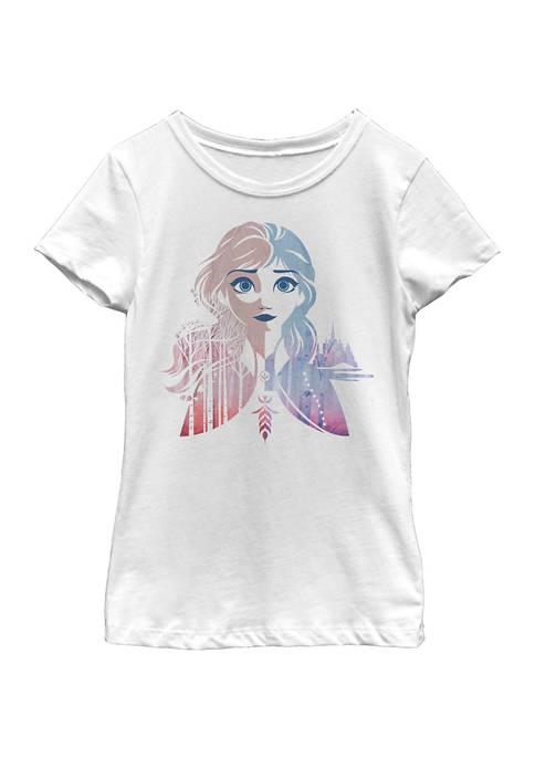 Disney® Frozen Girls 7-16 Anna Seasons Graphic T-Shirt