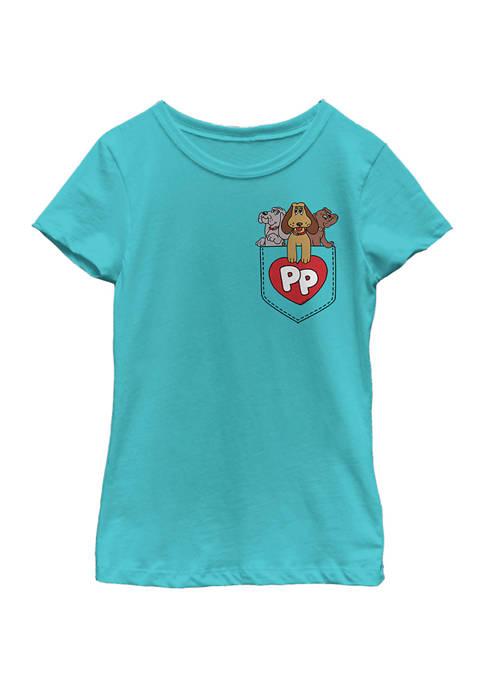 Girls 4-6x Puppy Pocket Graphic T-Shirt