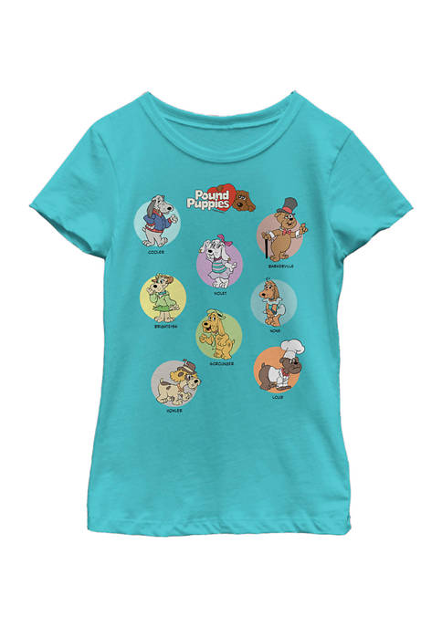 Girls 4-6x Cool and Pups Graphic T-Shirt