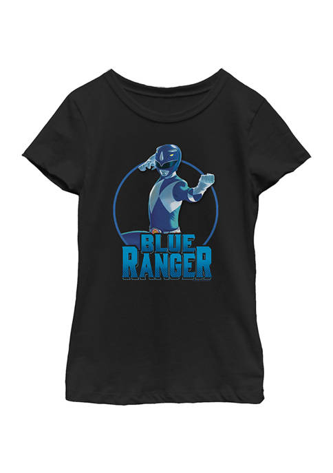 Power Rangers Girls 4-6x BLUE Graphic T-Shirt