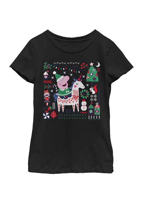 Peppa Pig Girls 4-6x Peppa Horse Top