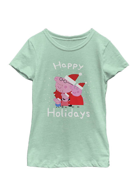 Girls 4-6x Peppa Holiday Top