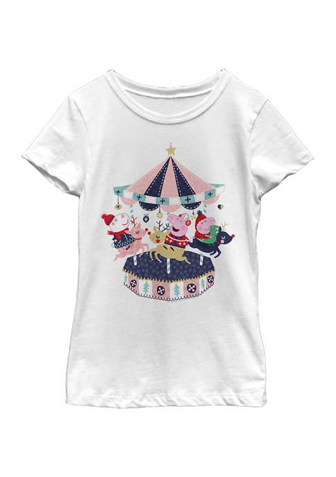 Girls 4-6x Peppa Carousel Top