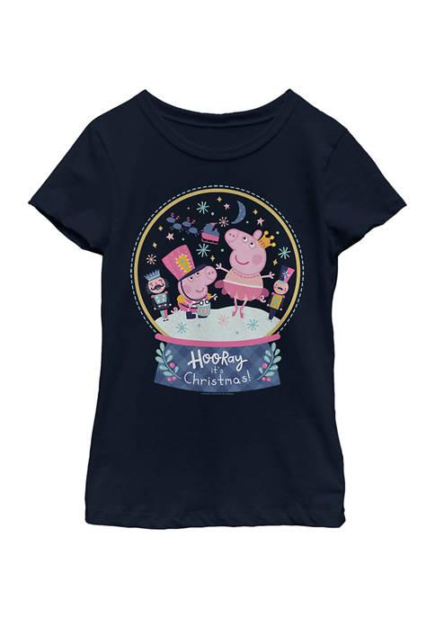 Peppa Pig Girls 4-6x Peppa Snowglobe Top